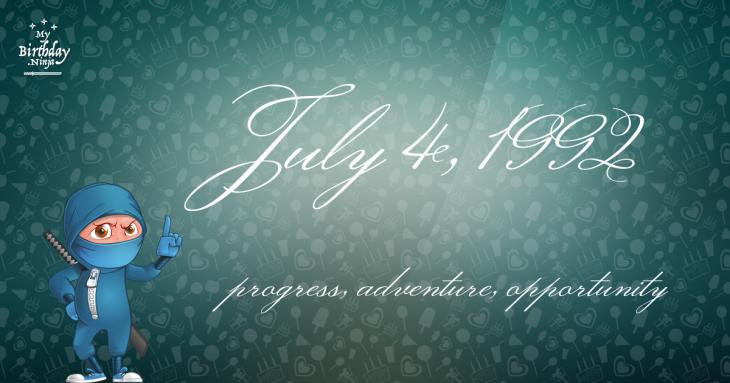 July 4, 1992 Birthday Ninja