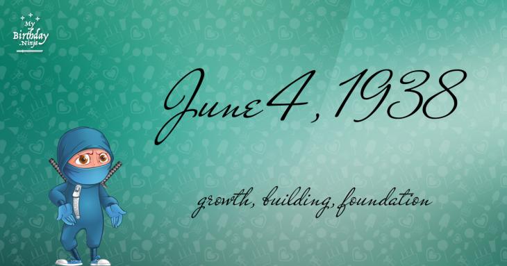 June 4, 1938 Birthday Ninja