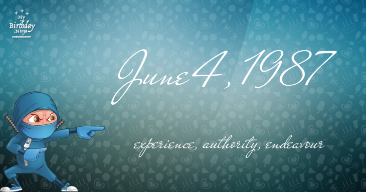June 4, 1987 Birthday Ninja