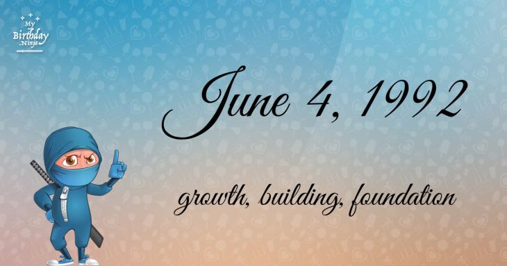 June 4, 1992 Birthday Ninja