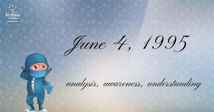 June 4, 1995 Birthday Ninja