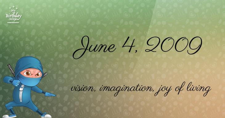 June 4, 2009 Birthday Ninja