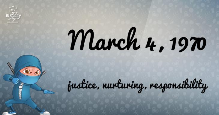 March 4, 1970 Birthday Ninja