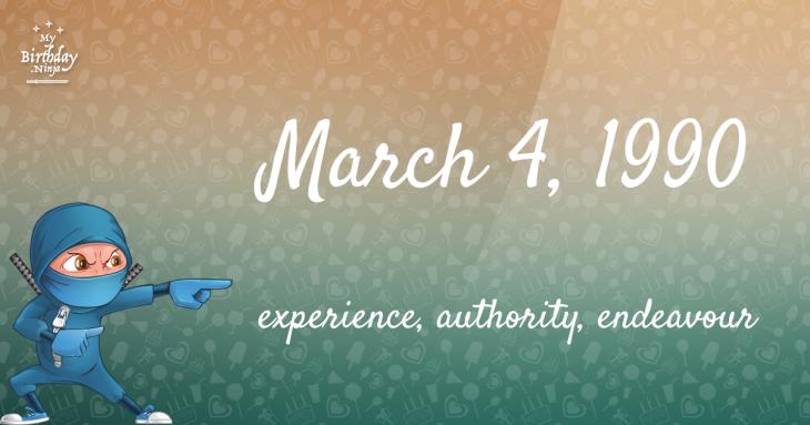 March 4, 1990 Birthday Ninja