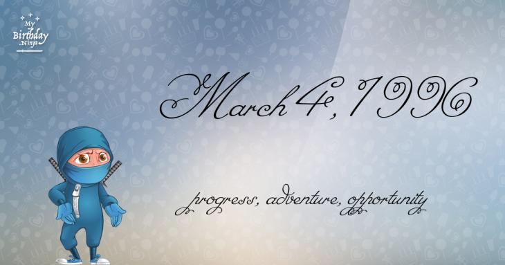 March 4, 1996 Birthday Ninja