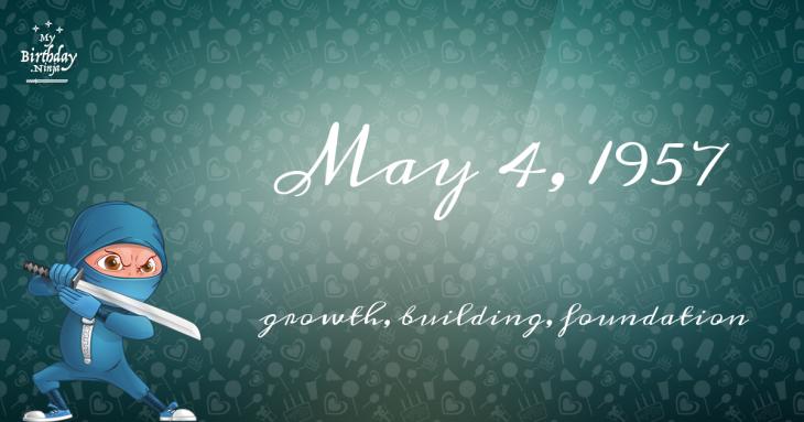 May 4, 1957 Birthday Ninja