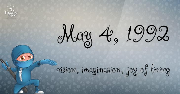 May 4, 1992 Birthday Ninja
