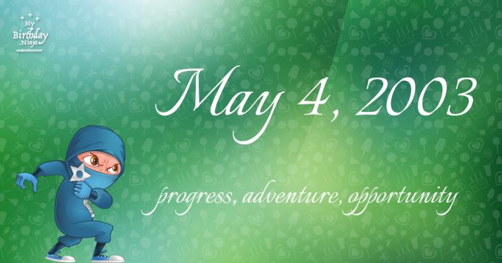 May 4, 2003 Birthday Ninja