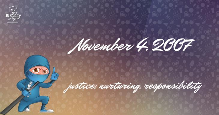 November 4, 2007 Birthday Ninja