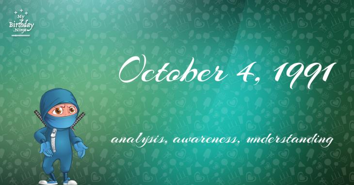 October 4, 1991 Birthday Ninja