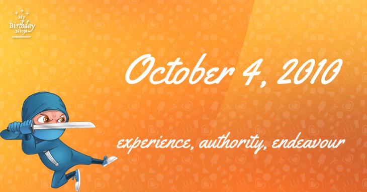 October 4, 2010 Birthday Ninja