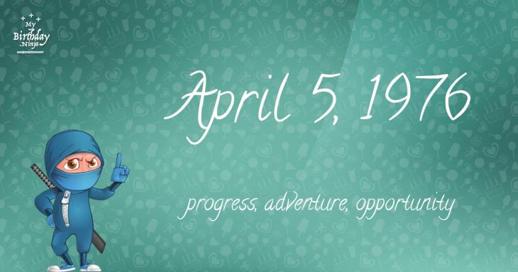 April 5, 1976 Birthday Ninja