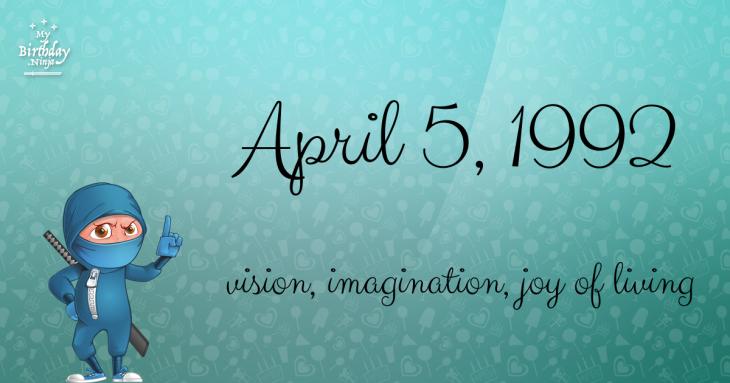 April 5, 1992 Birthday Ninja