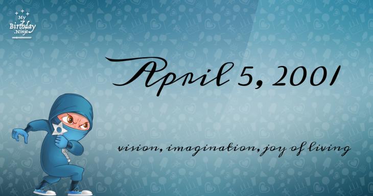 April 5, 2001 Birthday Ninja