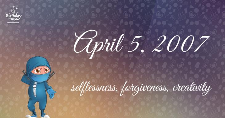 April 5, 2007 Birthday Ninja