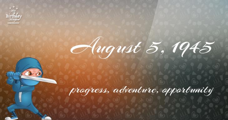 August 5, 1945 Birthday Ninja