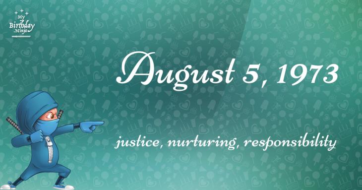 August 5, 1973 Birthday Ninja