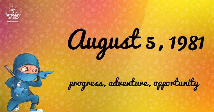 August 5, 1981 Birthday Ninja