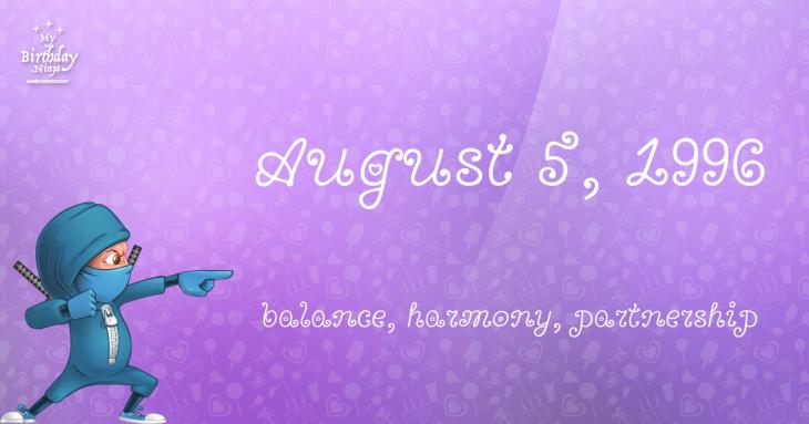 August 5, 1996 Birthday Ninja