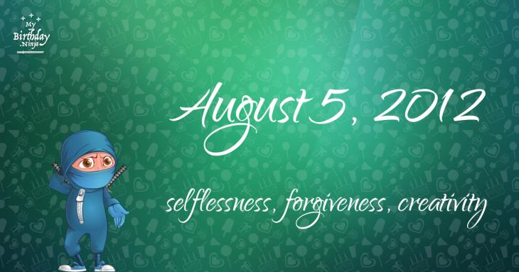 August 5, 2012 Birthday Ninja