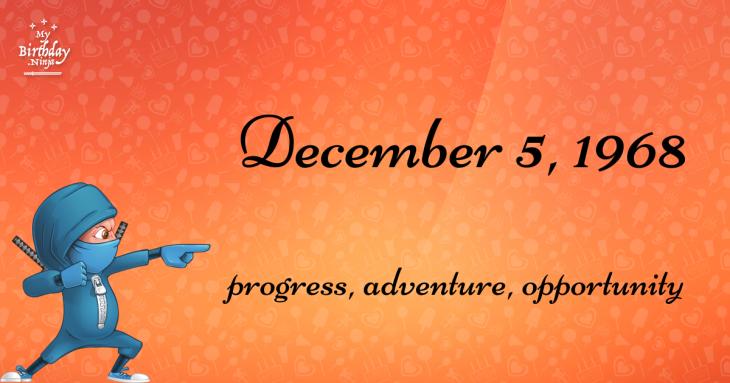 December 5, 1968 Birthday Ninja