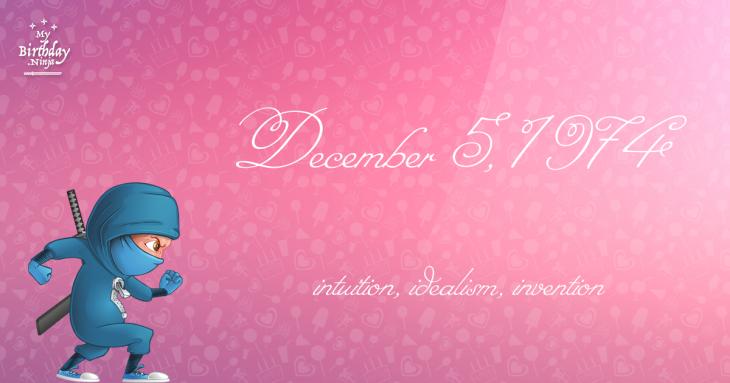 December 5, 1974 Birthday Ninja