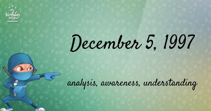 December 5, 1997 Birthday Ninja