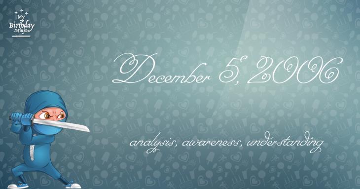 December 5, 2006 Birthday Ninja
