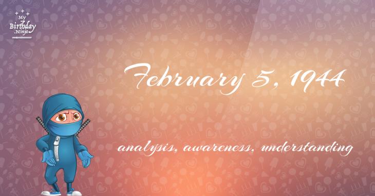February 5, 1944 Birthday Ninja