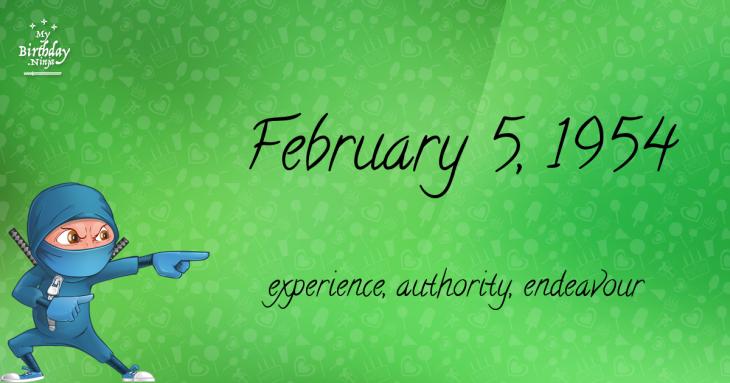 February 5, 1954 Birthday Ninja