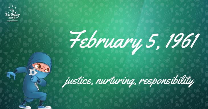 February 5, 1961 Birthday Ninja
