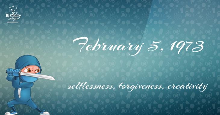 February 5, 1973 Birthday Ninja