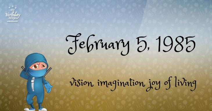 February 5, 1985 Birthday Ninja