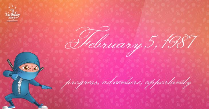 February 5, 1987 Birthday Ninja