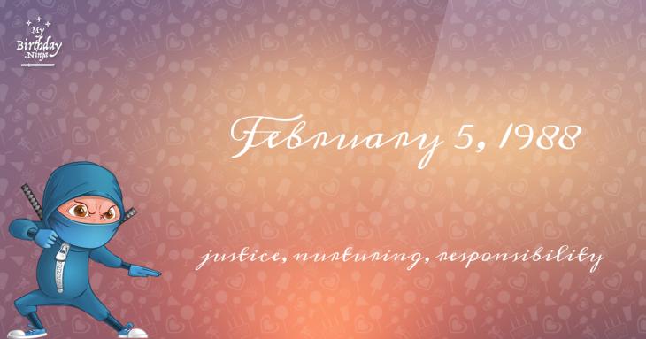 February 5, 1988 Birthday Ninja