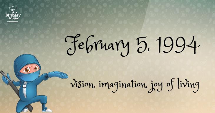 February 5, 1994 Birthday Ninja