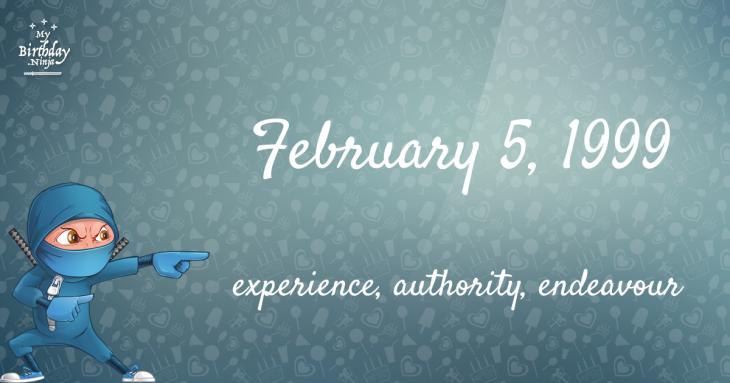February 5, 1999 Birthday Ninja