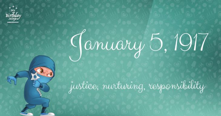 January 5, 1917 Birthday Ninja