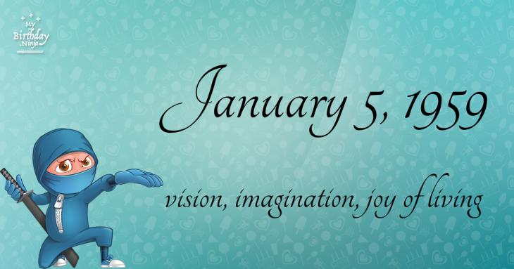 January 5, 1959 Birthday Ninja