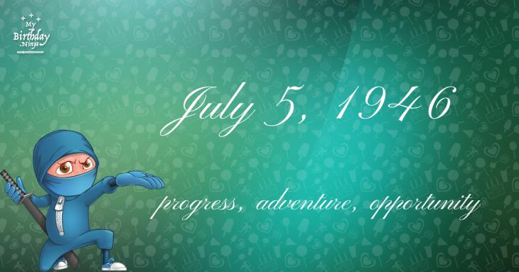 July 5, 1946 Birthday Ninja