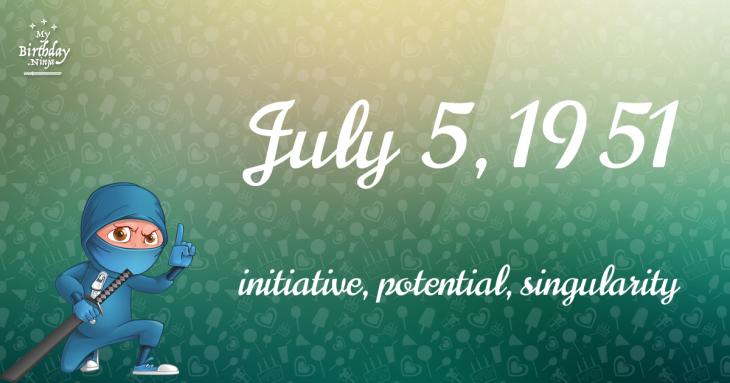 July 5, 1951 Birthday Ninja