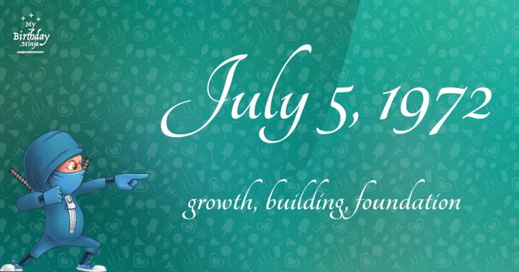 July 5, 1972 Birthday Ninja