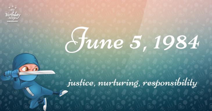 June 5, 1984 Birthday Ninja