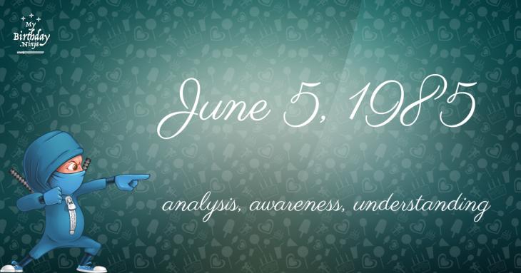 June 5, 1985 Birthday Ninja