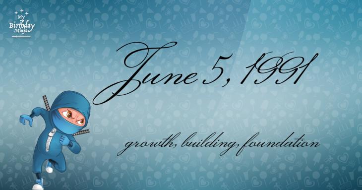June 5, 1991 Birthday Ninja