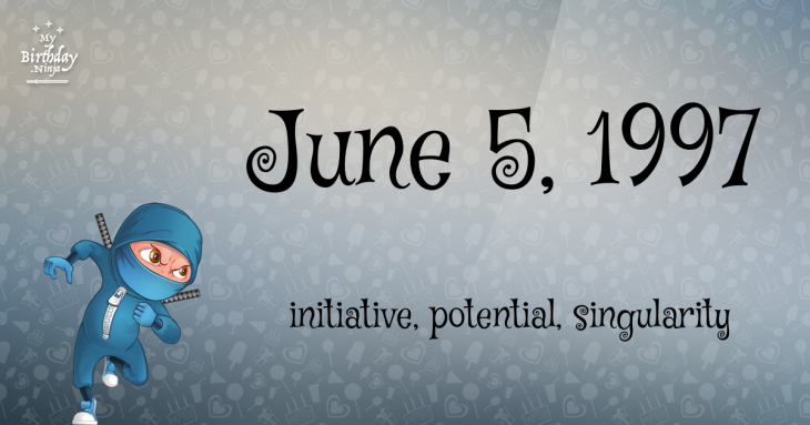June 5, 1997 Birthday Ninja