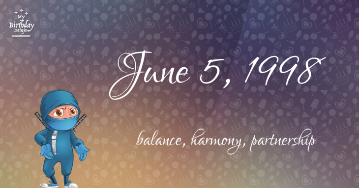 June 5, 1998 Birthday Ninja