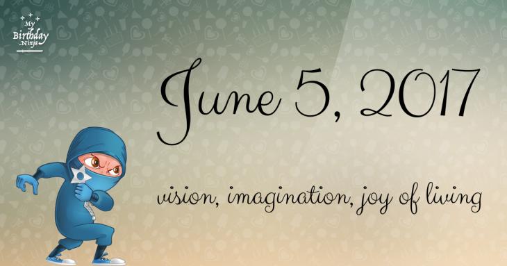 June 5, 2017 Birthday Ninja