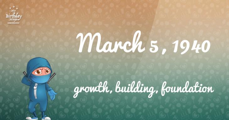March 5, 1940 Birthday Ninja
