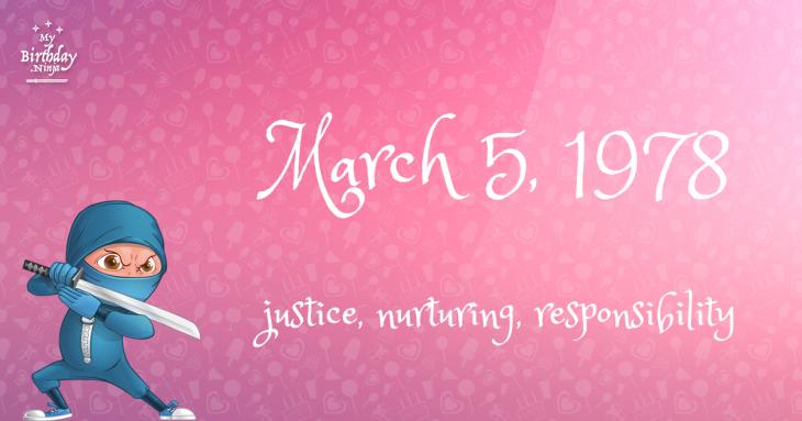 March 5, 1978 Birthday Ninja